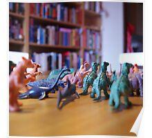 Little Plastic Dinosaurs Poster