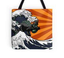 Kaiju Vs Jaeger (Japanese Wave) Tote Bag