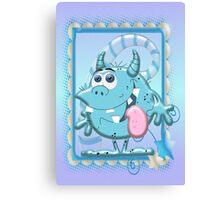 Cute Blue Monster Canvas Print