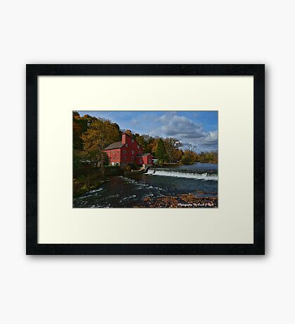 The Historic Red Mill of Clinton NJ Framed Print