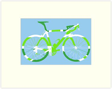 Bike Flag United Kingdom (Green - Big) by sher00