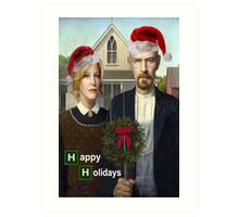 Happy Holidays from The Whites Art Print