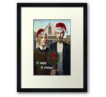 Happy Holidays from The Whites Framed Print