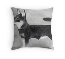Lancashire Heeler Dog Portrait  Throw Pillow