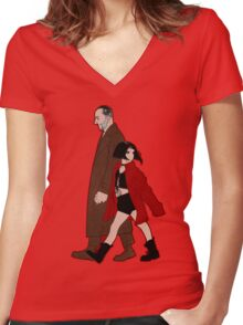 Leon the Professional + Mathilda Women's Fitted V-Neck T-Shirt