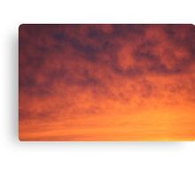 Flaming Clouds Canvas Print