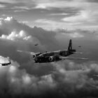 Vickers Wellingtons with 16 OTU black and white version by Gary Eason