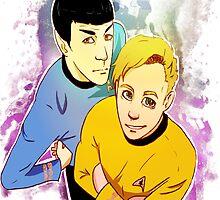 Star Trek Kirk and Spock print by radicaldoodles
