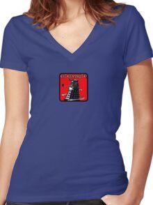 Dalek exterminate! t shirt Women's Fitted V-Neck T-Shirt