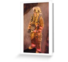 Fire Fighter Waiting Greeting Card