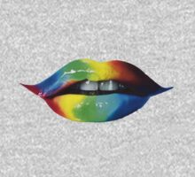 Rainbow lips T-Shirts & Hoodies by seazerka