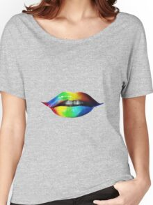 Rainbow lips T-Shirts & Hoodies Women's Relaxed Fit T-Shirt