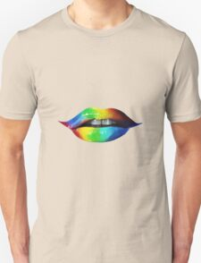 Rainbow lips T-Shirts & Hoodies Unisex T-Shirt