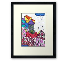 Twisted Tower Framed Print