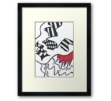The Abstract Clown Framed Print