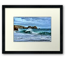 Double Wave Framed Print