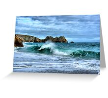 Double Wave Greeting Card