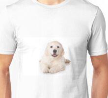 Fluffy Puppy golden retriever Unisex T-Shirt