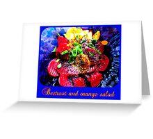 Vegan Beetroot and Orange Salad Greeting Card