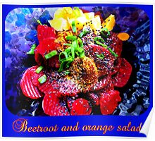 Vegan Beetroot and Orange Salad Poster