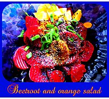 Vegan Beetroot and Orange Salad Photographic Print