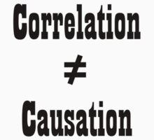 Correlation doesn't equal cuasation by samohtbackwards