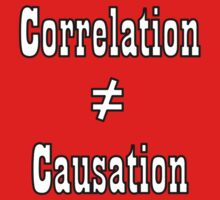 Correlation doesn't equal cuasation - outline by samohtbackwards
