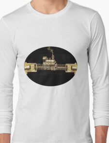 ♂ ♀ ZIPPED DOUBLE HEADER GET ME TO THE TRAIN ON TIME TEE SHIRT ♂ ♀ Long Sleeve T-Shirt