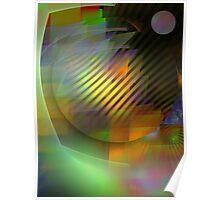 Fractal Magic, abstract geometric art Poster