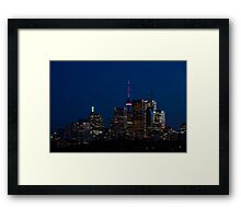 Indigo Sky and Toronto Skyline Framed Print