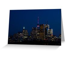 Indigo Sky and Toronto Skyline Greeting Card