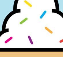 Colorful Vanilla Ice Cream Sprinkles Sticker