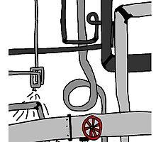 Pipes, Wires and lights!!!! by Geordie McC