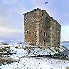 Snow at Portencross Castle by George Crawford
