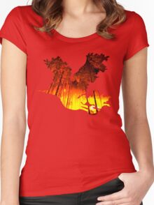 Moltres - Pokemon Realism Women's Fitted Scoop T-Shirt
