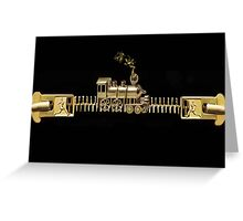 ♂ ♀ ZIPPED DOUBLE HEADER GET ME TO THE TRAIN ON TIME PICTURE/CARD ♂ ♀  Greeting Card