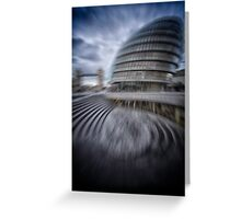 collapsing new building Greeting Card