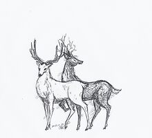 Stags by plumedserpent