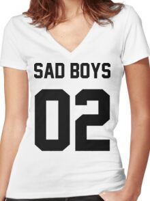 Yung Lean Sad Boys 02 Women's Fitted V-Neck T-Shirt