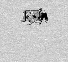 Shot On Net Hockey Sketch - Male Unisex T-Shirt