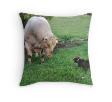 Whos the Boss Throw Pillow