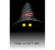 Maybe We Don't Exist - Final Fantasy IX (Vivi) Photographic Print