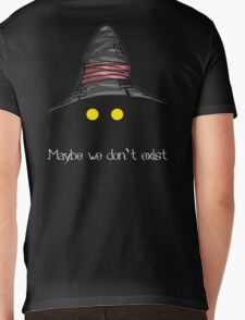 Maybe We Don't Exist - Final Fantasy IX (Vivi) Mens V-Neck T-Shirt