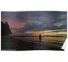 English Bay Sunset Poster