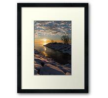 Sunshine on the Ice - Lake Ontario, Toronto, Canada Framed Print