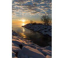 Sunshine on the Ice - Lake Ontario, Toronto, Canada Photographic Print