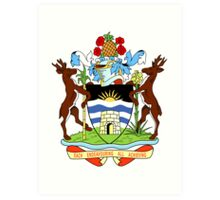 Antigua and Barbuda Coat of Arms  Art Print