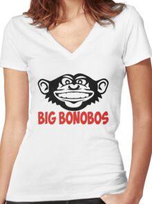 Big Bonobos T-shirt Women's Fitted V-Neck T-Shirt