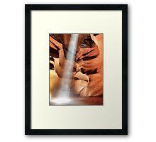 Sunray in Antelope Canyon Framed Print