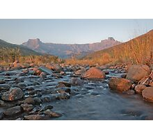 Drakensberg at Sunrise Photographic Print